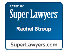 Super Lawyers badge - Rachel Stroup